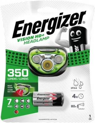"Fejlámpa, 3 LED, 3xAAA, ENERGIZER ""Headlight Vision HD Plus"""