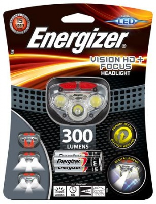 "Fejlámpa, 3 LED, 3xAAA, ENERGIZER ""Headlight Vision HD Focus"""