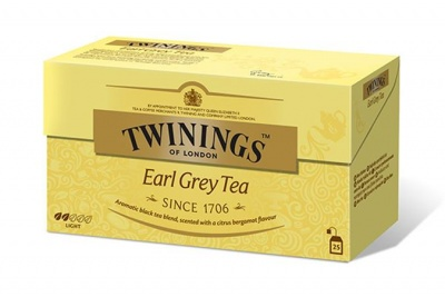 "Fekete tea, 25x2 g, TWININGS ""Earl grey"""